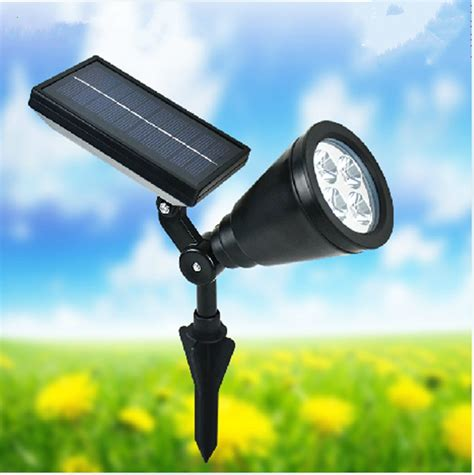 2015 newest portable 4 led outdoor solar powered spotlight