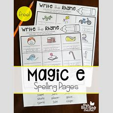 Magic E Spelling Pages {write The Rhyme}  This Reading Mama