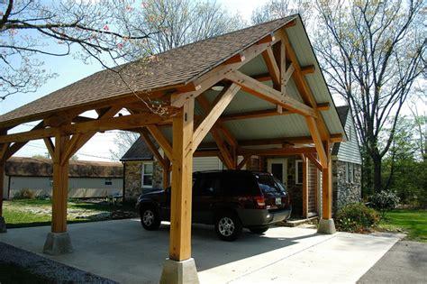 build timber frame carport designs  plans