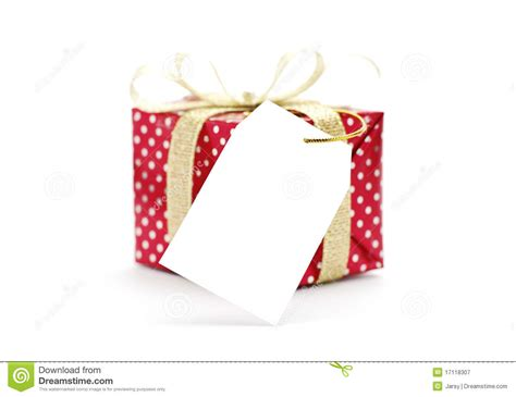 Gift box with tag stock illustration. Illustration of gift