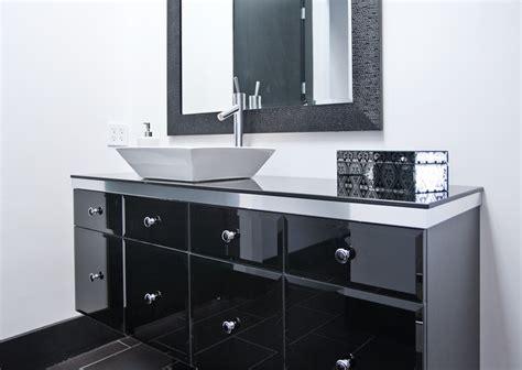 Minimal Modern Black And White Bathroom Remodel-modern