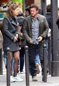 sean penn kisses adele exarchopoulos goodbye  lunch
