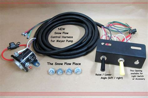snow plow control wire harness raise  angle