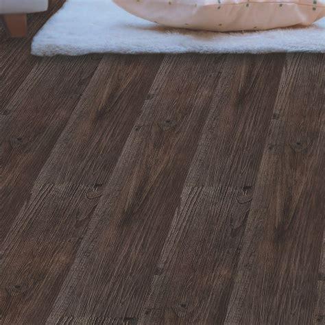colours  adhesive dark grey oak effect vinyl plank