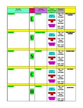 Colorful Lesson Plan Template Free By Rockasway Tpt