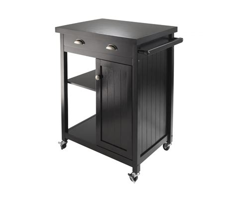 Winsome Wood 20727 Timber Kitchen Cart, Black