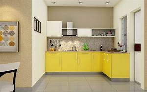 buy heron elegant l shaped kitchen online homelane india With what kind of paint to use on kitchen cabinets for buy gallery wall art