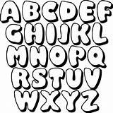 Bubble Letters Printable Alphabet Letter Printablee Stencils Stencil Abc sketch template