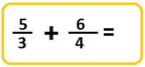 adding improper fractions with unlike denominators math a - Adding Mixed Numbers With Different Denominators