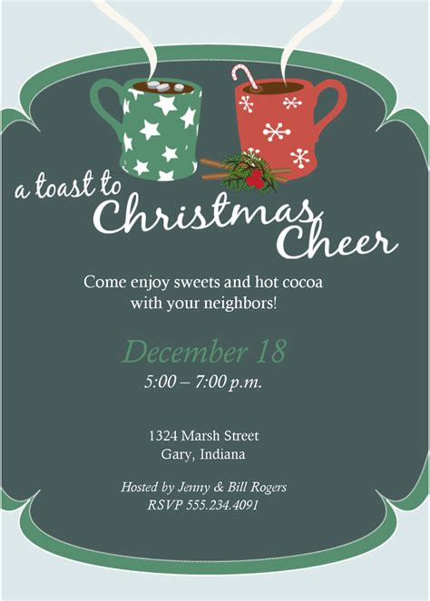Best Christmas Party Invitation Templates Ideas And Images On Bing