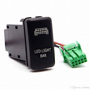 2019 Blue Led Push Switch With Connector Wire Kit Laser
