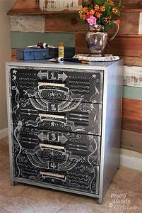 faux zinc and chalkboard file cabinet pretty handy girl With kitchen cabinets lowes with small chalkboard stickers