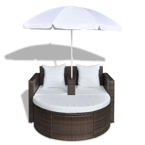 polyrattan lounge set günstig gartenlounge poly rattan lounge set gartengarnitur braun g 252 nstig kaufen vidaxl de