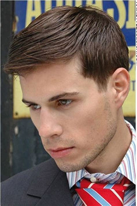 sleek combed forward professional mens haircut get yours