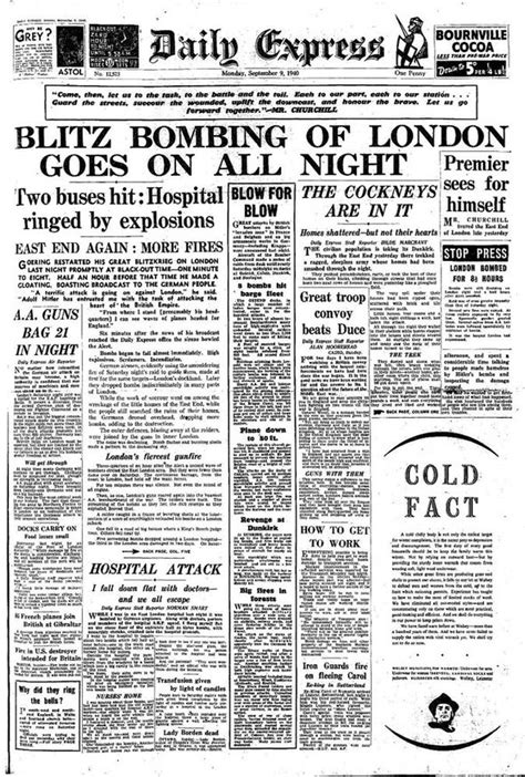 blitz bombing  london    daily express reported  history news expresscouk
