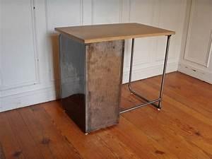Plateau Bois Bureau : bureau m tal plateau bois style and steel jpg tables ~ Edinachiropracticcenter.com Idées de Décoration