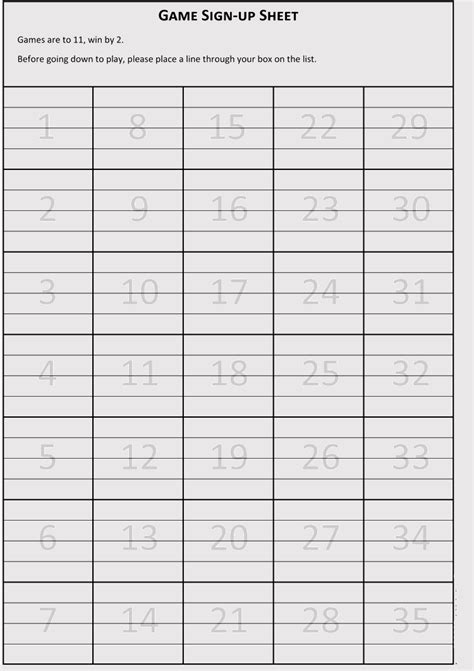 blank volunteer sign  sheet templates  microsoft
