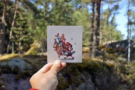 cute colorful small drawings  marija tiurina inspiration
