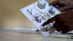 Board Wiring Connection For House Wiring In Hindi