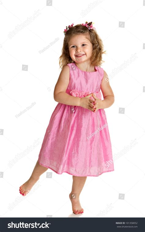 3 Year Old Little Girl Pink Stock Photo 101358052