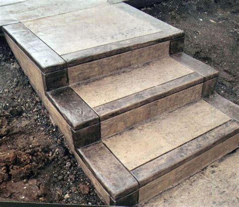 concrete steps backyard ideas concrete