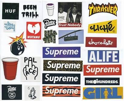 Supreme Sticker Stickers Skateboard Vinyl Streetwear Pack