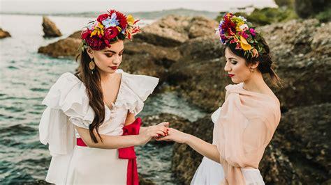 Eclectic Colorful Frida Kahlo Beach Wedding Inspiration