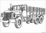 Coloring Truck Pages Printable Tanker Army Semi Trucks Monster Police Boys Colouring Sheets Printables Procoloring Template Books Templates sketch template