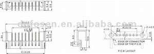 Pcb 7 Pin Sim Battery Connector Ts-4003
