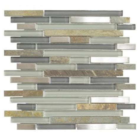 Jeffrey Court Mosaic Tile Home Depot by Jeffrey Court St Cloud Pencil 11 3 4 In X 11 3 4 In X 6