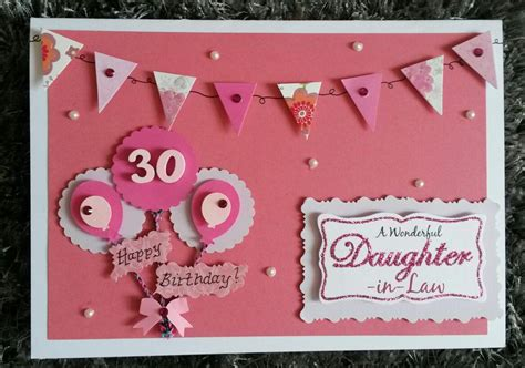 hand   birthday card daughter  law