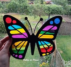 Papillon Papier De Soie : bulles de plume diy papillon attrape soleil ~ Zukunftsfamilie.com Idées de Décoration