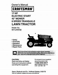 Craftsman 917 270732 User Manual