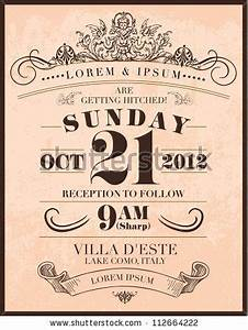 save the date wedding invitation template vector With free vintage save the date templates