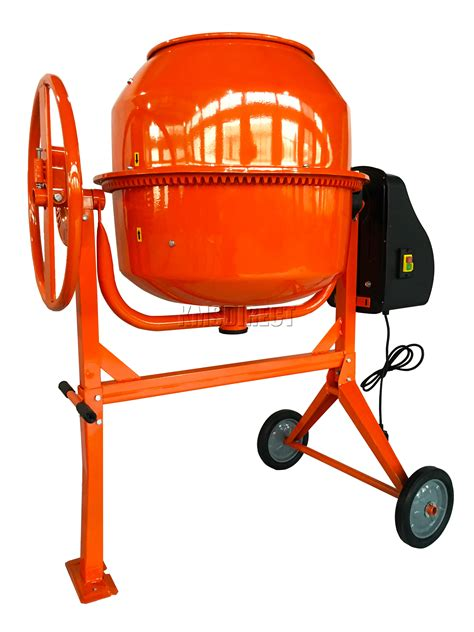 foxhunter 650w electric concrete cement mixer mortar plaster machine 180l drum