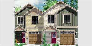 House front color elevation view for D