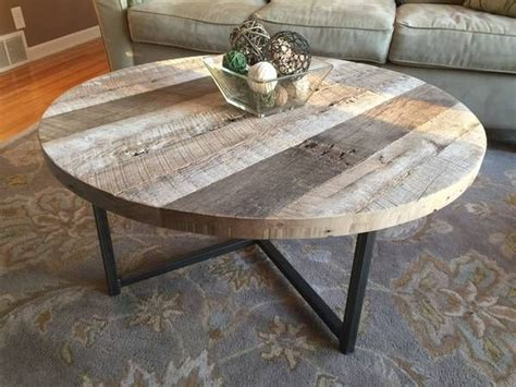 Buy A Hand Made Round Reclaimed Wood Table With Metal Base Walmart Coffee Table Sets Rooms To Go Lift Top Tables White Furniture On Wheels Trunk Set High Quality Wicker Contemporary Gloss