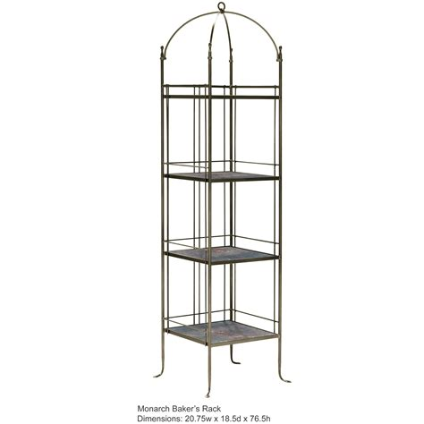 wrought iron bakers rack monarch bakers rack