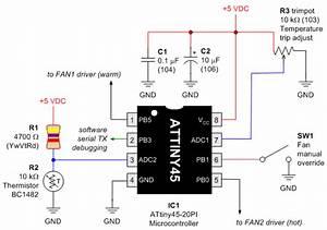 dual fan controller With dual fan controller