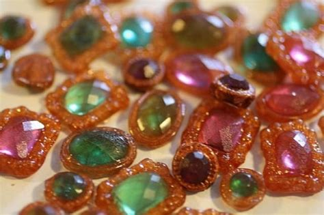 Cake Decoration Ideas With Gems by 12 Assorted Shapes Isomalt Jewels Edible Gems For Cake