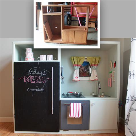 entertainment center kitchen diy play kitchen made out of an entertainment center
