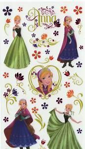 Disney Frozen - Anna & Flowers Sticker | Crafter's Toy Box