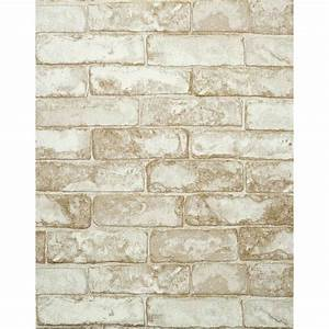 Modern Rustic Weathered Brick Wallpaper