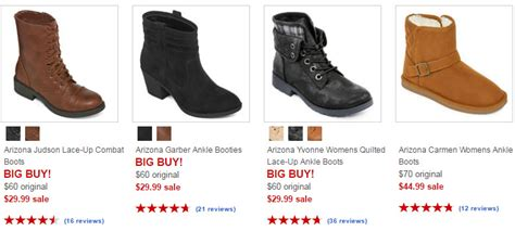 jcpenney arizona womens boots