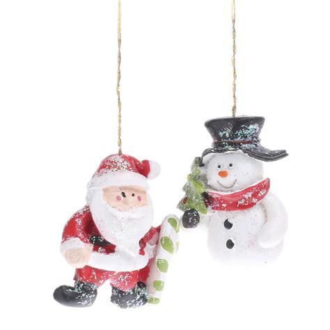 miniature snowman  santa ornaments christmas