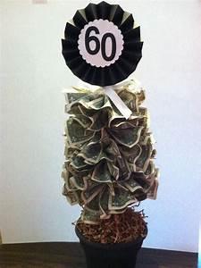 Money tree for a friends 60th birthday! 60- $1 dollar ...