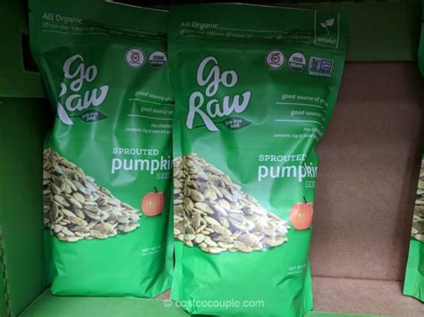 raw organic sprouted pumpkin seeds