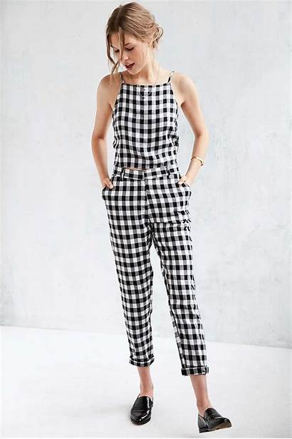 Gingham Jumpsuit Checkered Urban Outfitters Plaid Outfit