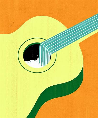 Guidone Joey Guitar Illustration Conceptual Poster Graphic