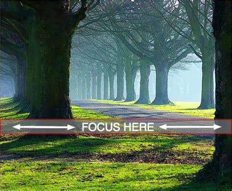 focus  landscape photography